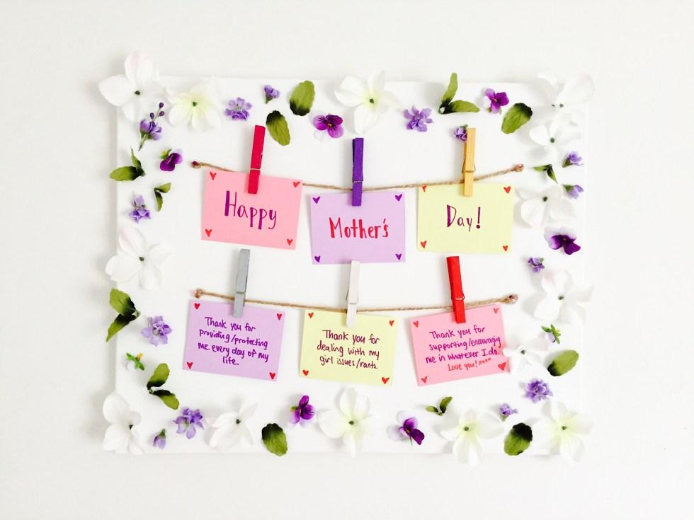 DIY Flower Banner For Mother's Day