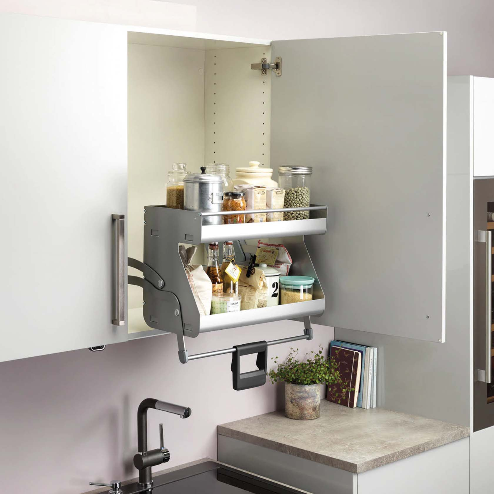 An Automated Stand For Spices For The Kitchen