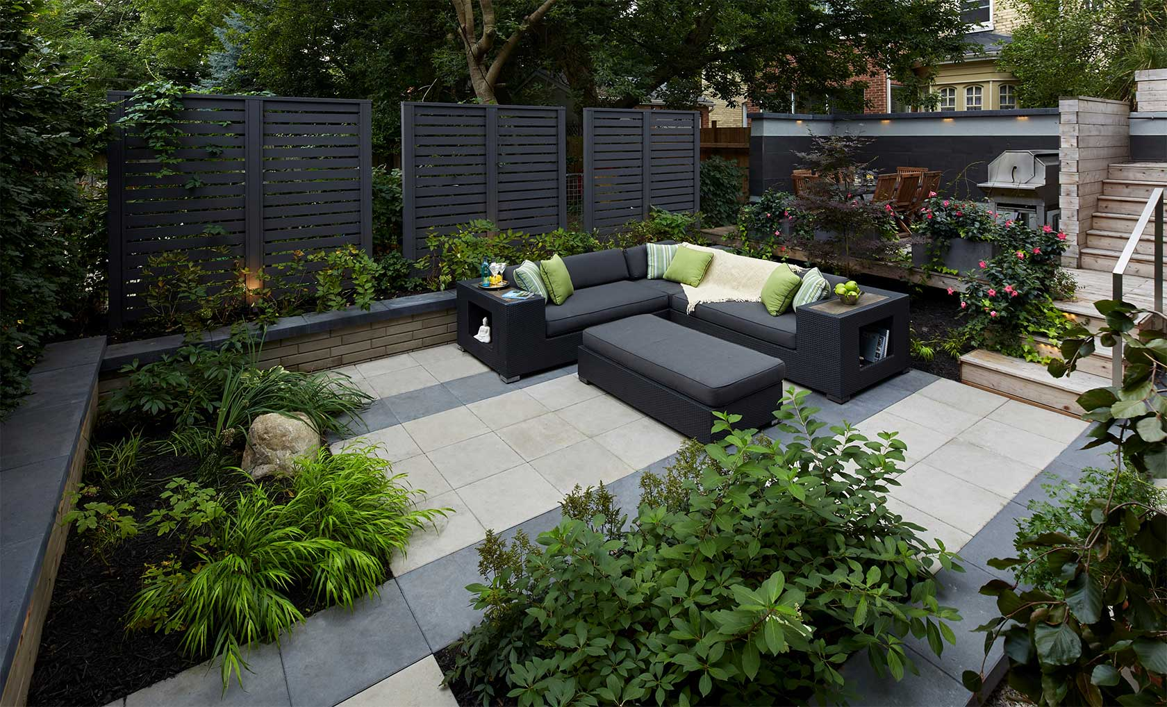 Beautiful Green Concrete Patio