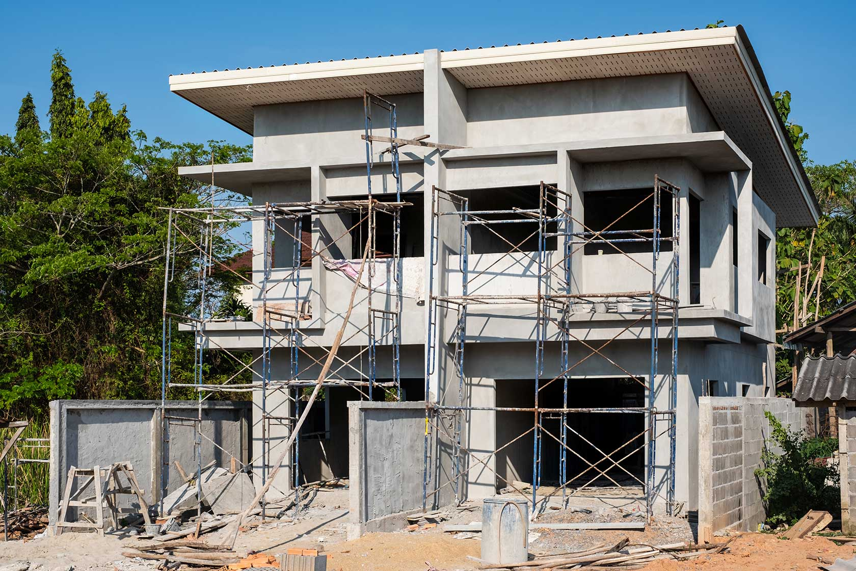 Under Construction Two Storey House