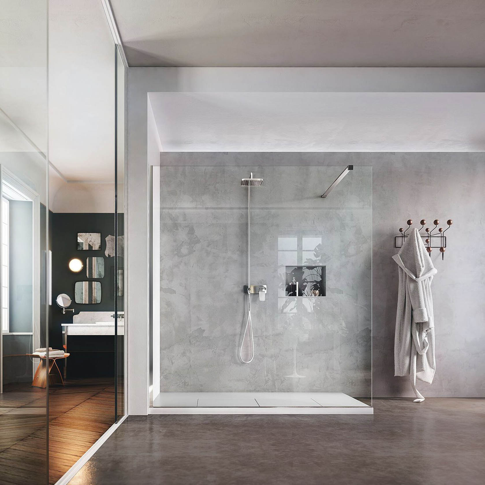 Fixed Panel Shower Screens