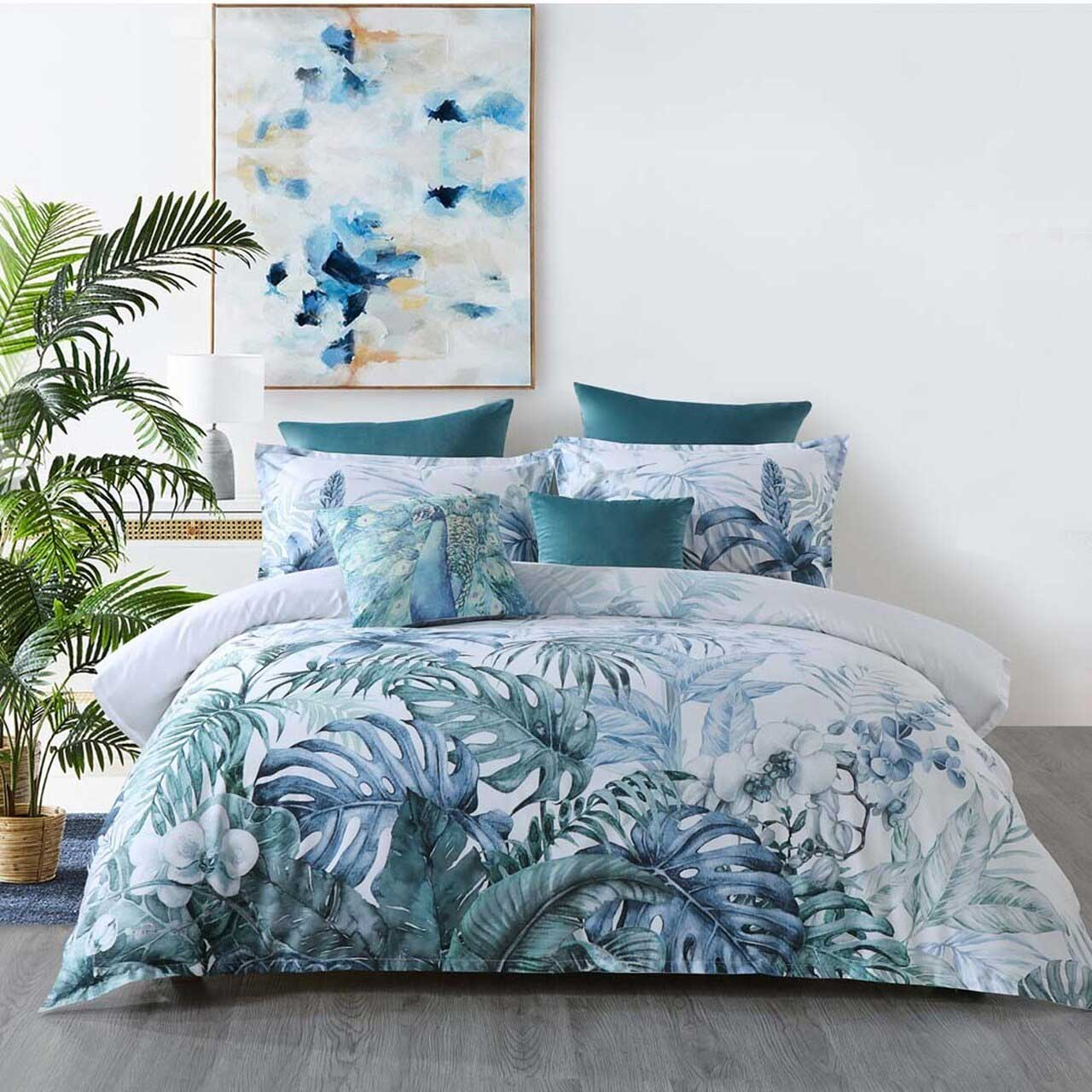 Bianca Kailua Teal Double Bed Quilt Cover Set