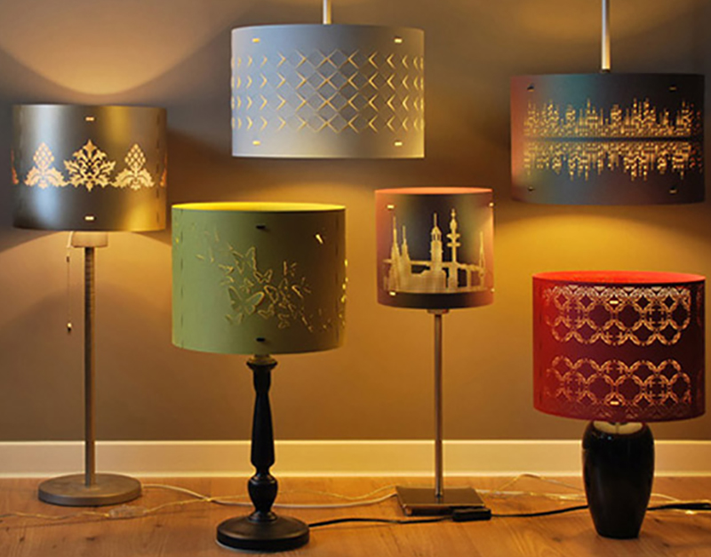 Butterfly Drum Lampshades
