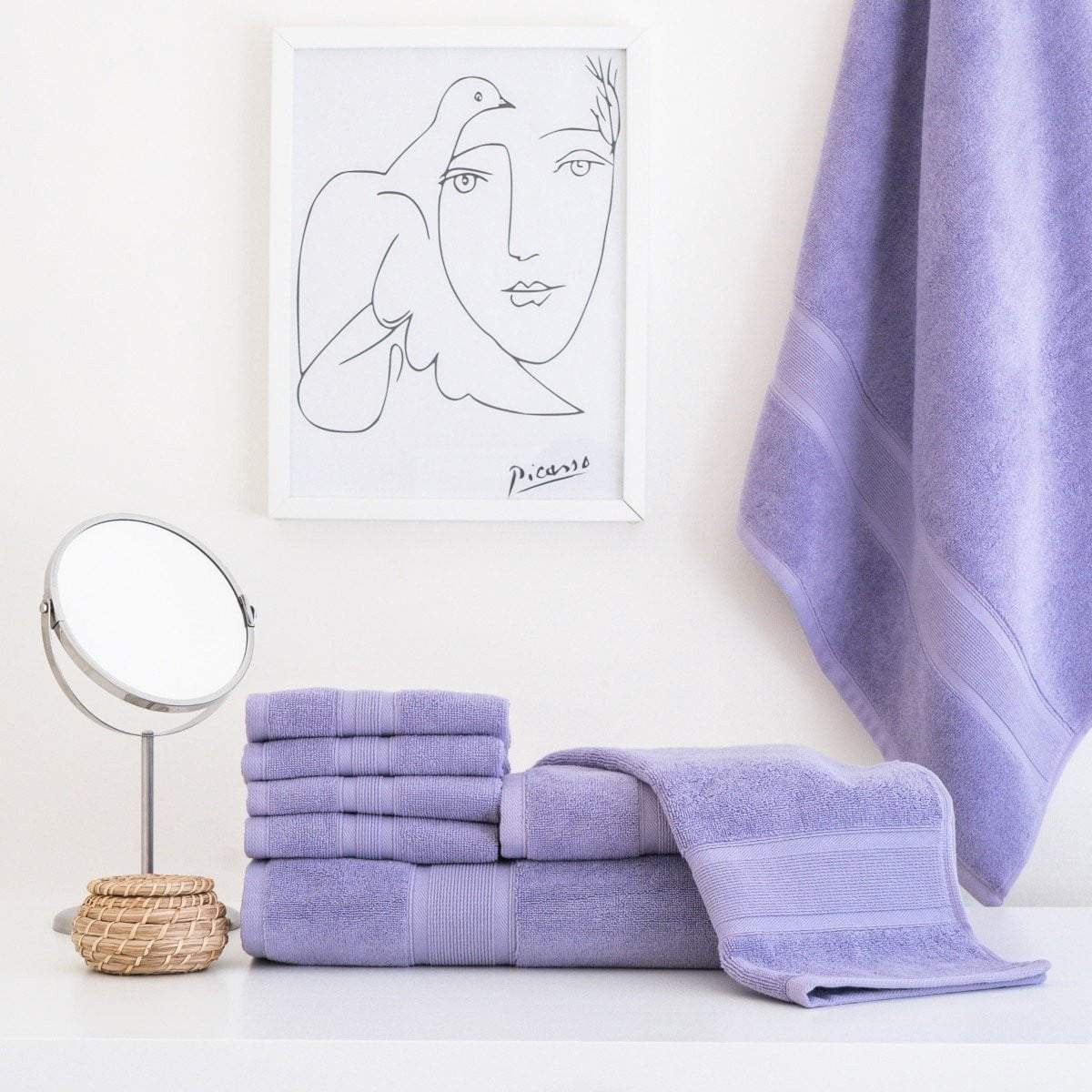 Lavender Purple Towel Set