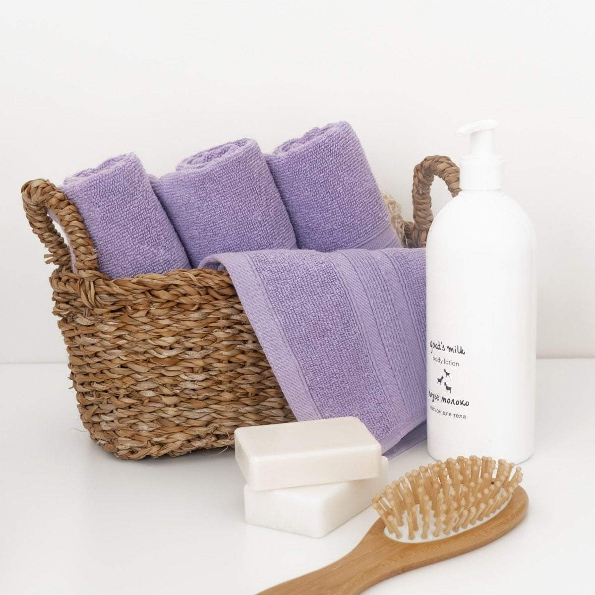 Lavender Washcloths Turkish Cotton Towels