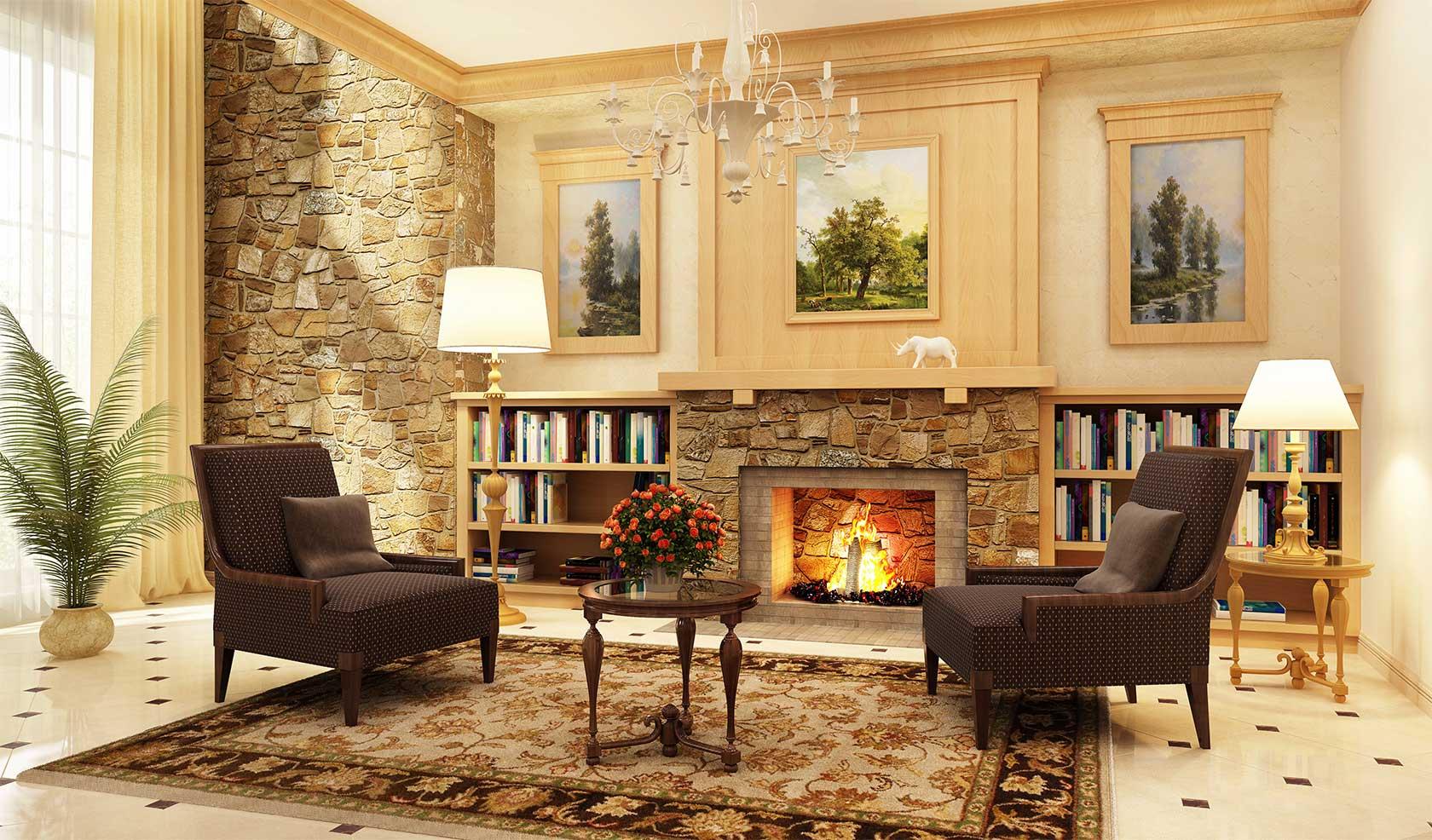 Stylish Fireplace