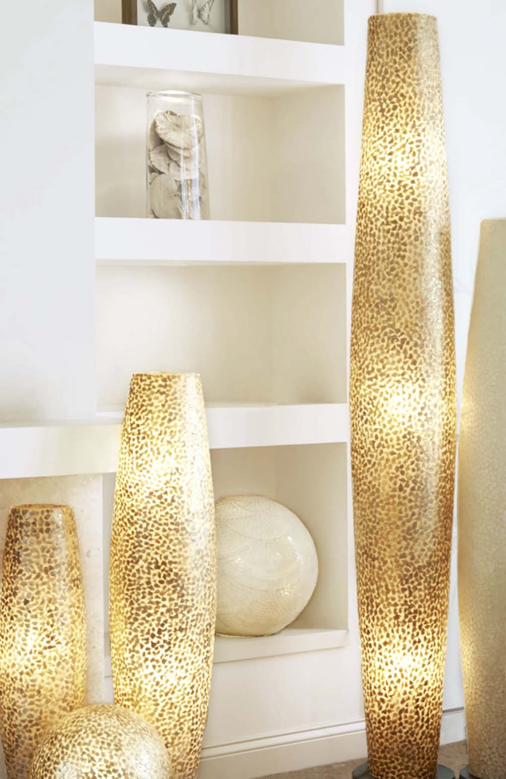 Callisto Tall Gold Floor Lamp