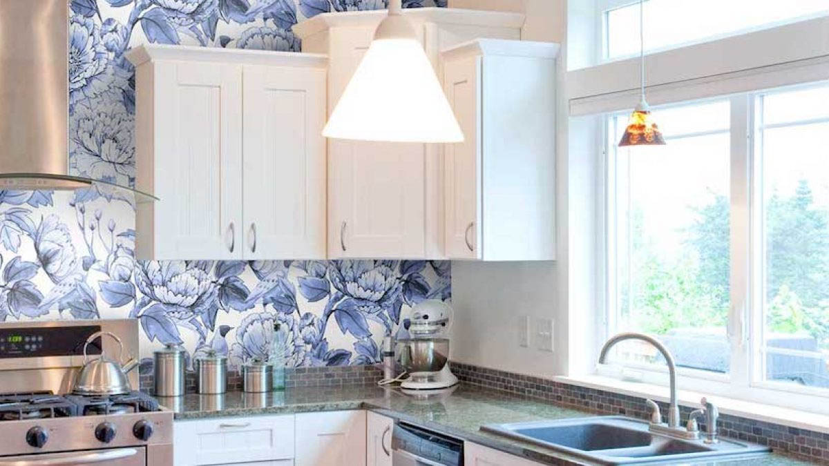 Sturdy And Cleanable Kitchen Wallpaper