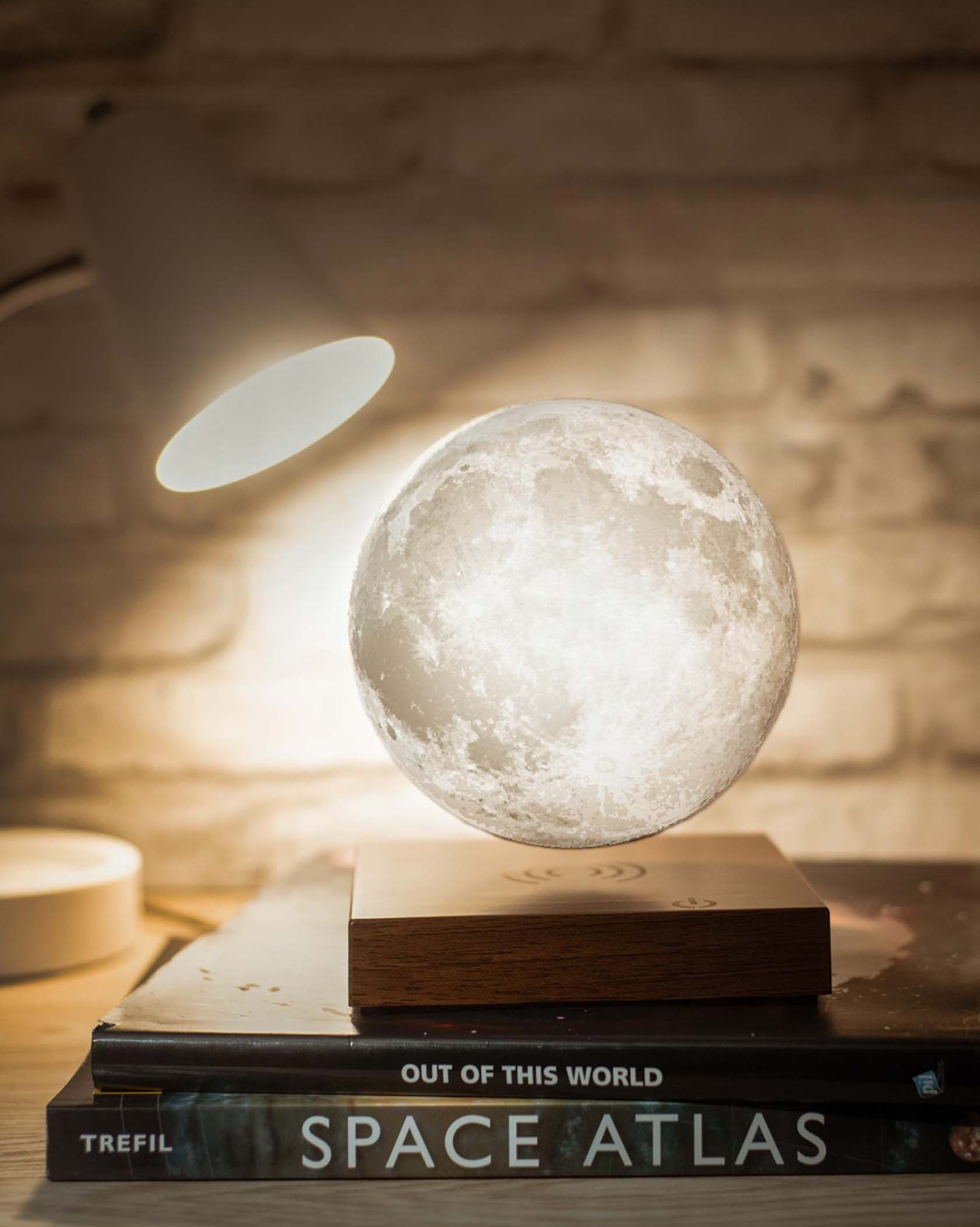 The Levitating Moon Lamp
