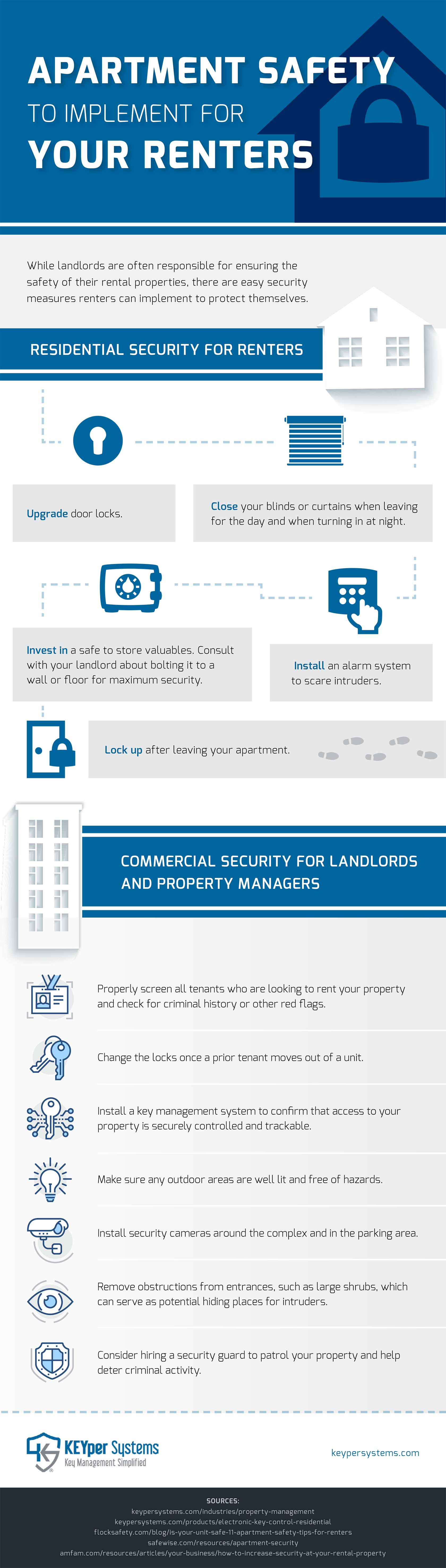 Apartment Safety Tips For Renters And Landlords Infographic