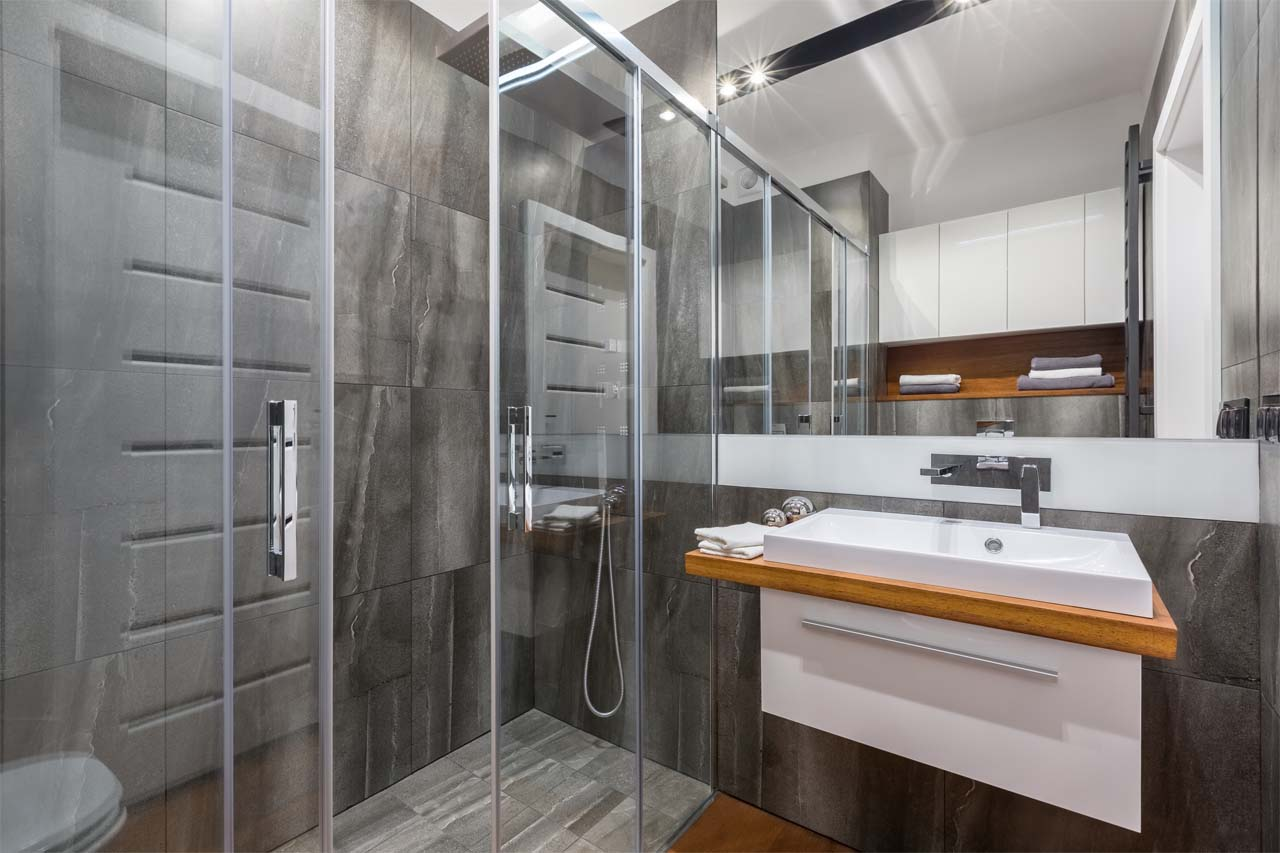 Sunny Shower Frameless Double Sliding Shower Door