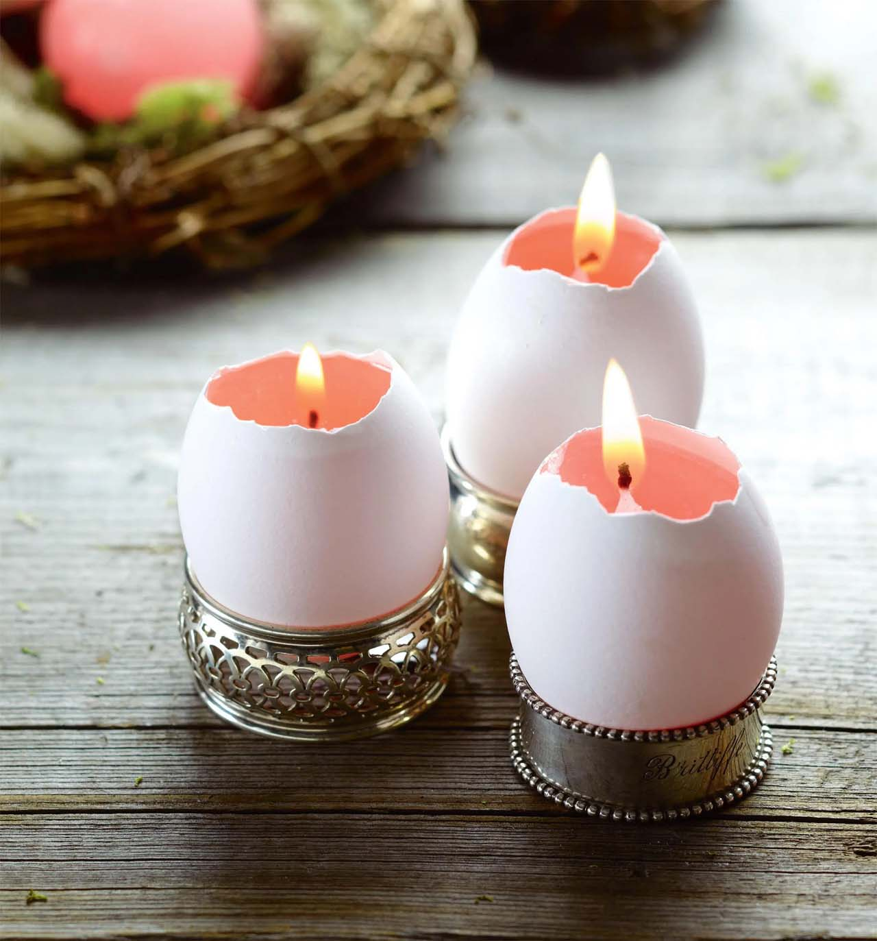 Eggshell Candle Holders