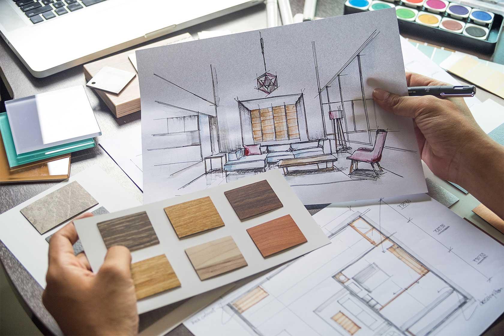 Creative Interior Design Sketch