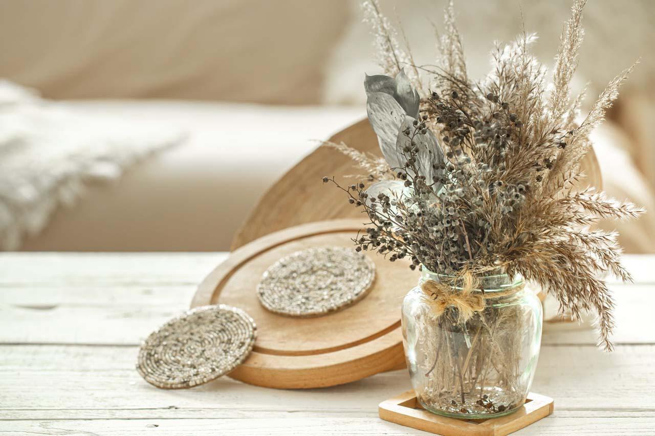 Flowers Placed Inside Jars