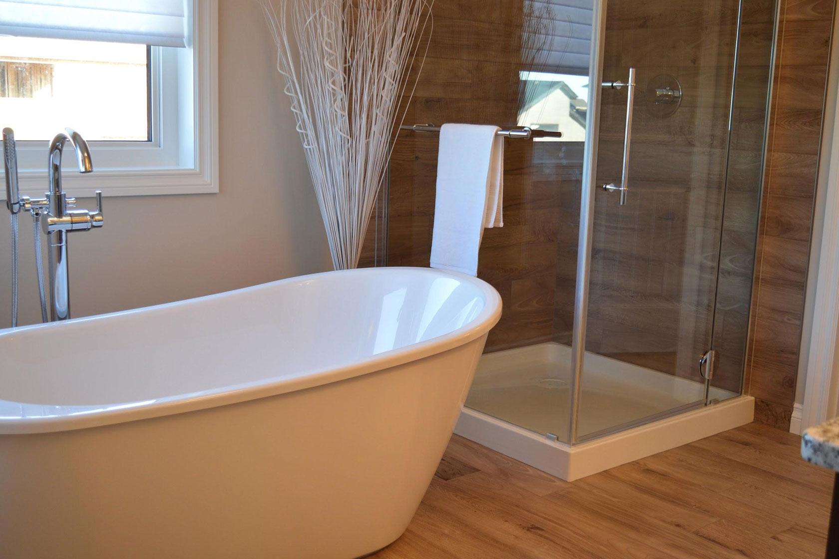 Engineered Wood Bathroom Floor