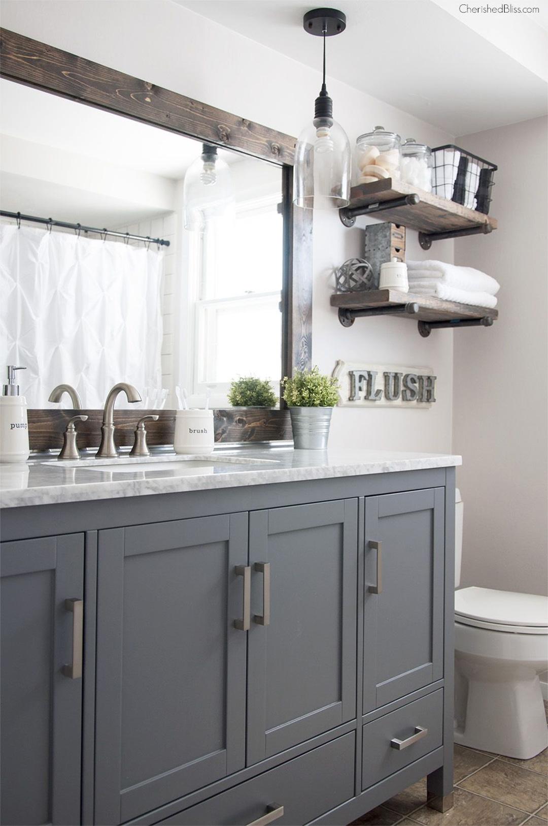 Grey Rustic Bathroom Ideas