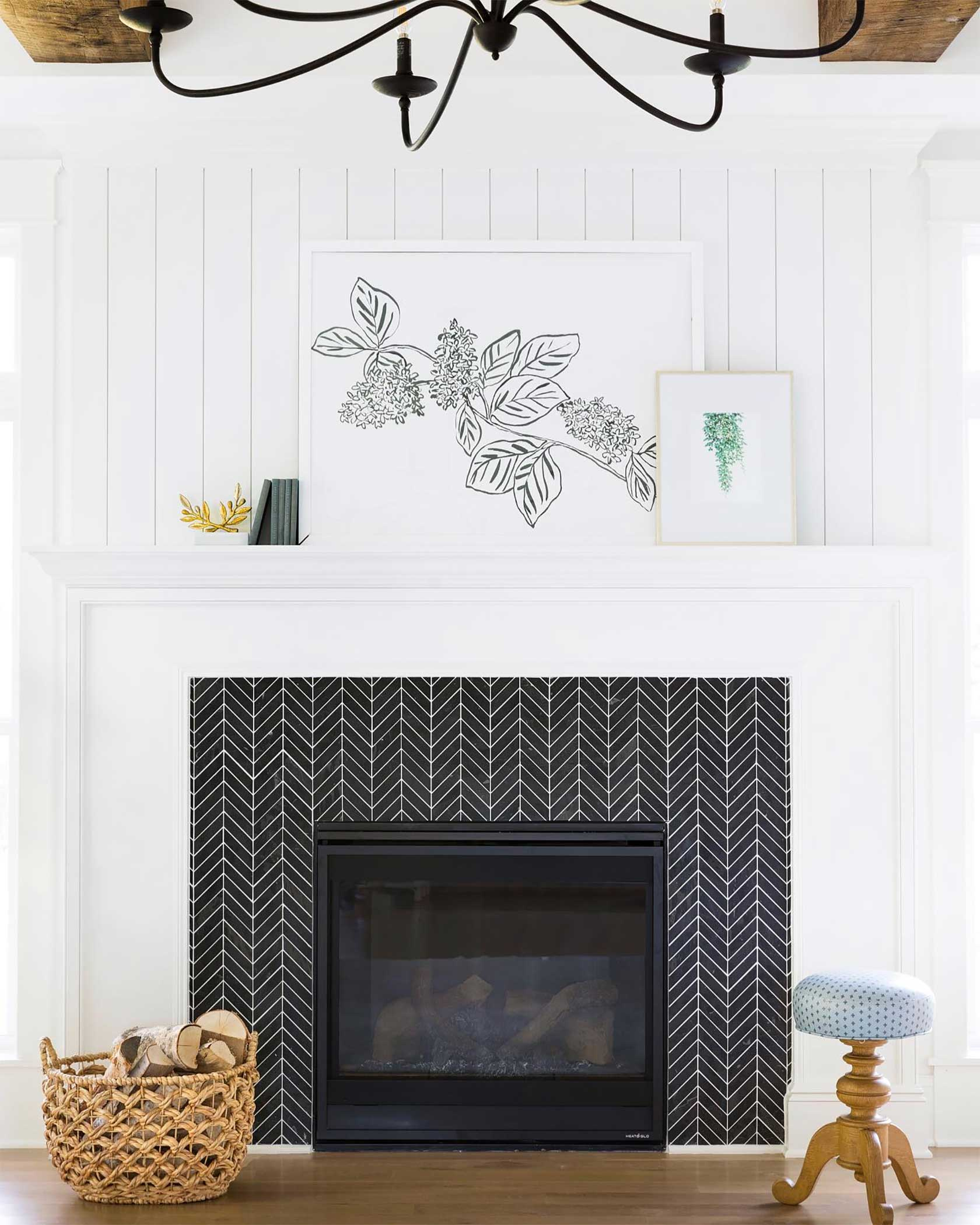 Herringbone Fireplace Tiles