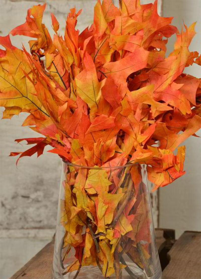 Dried Leaves Pot Decoration