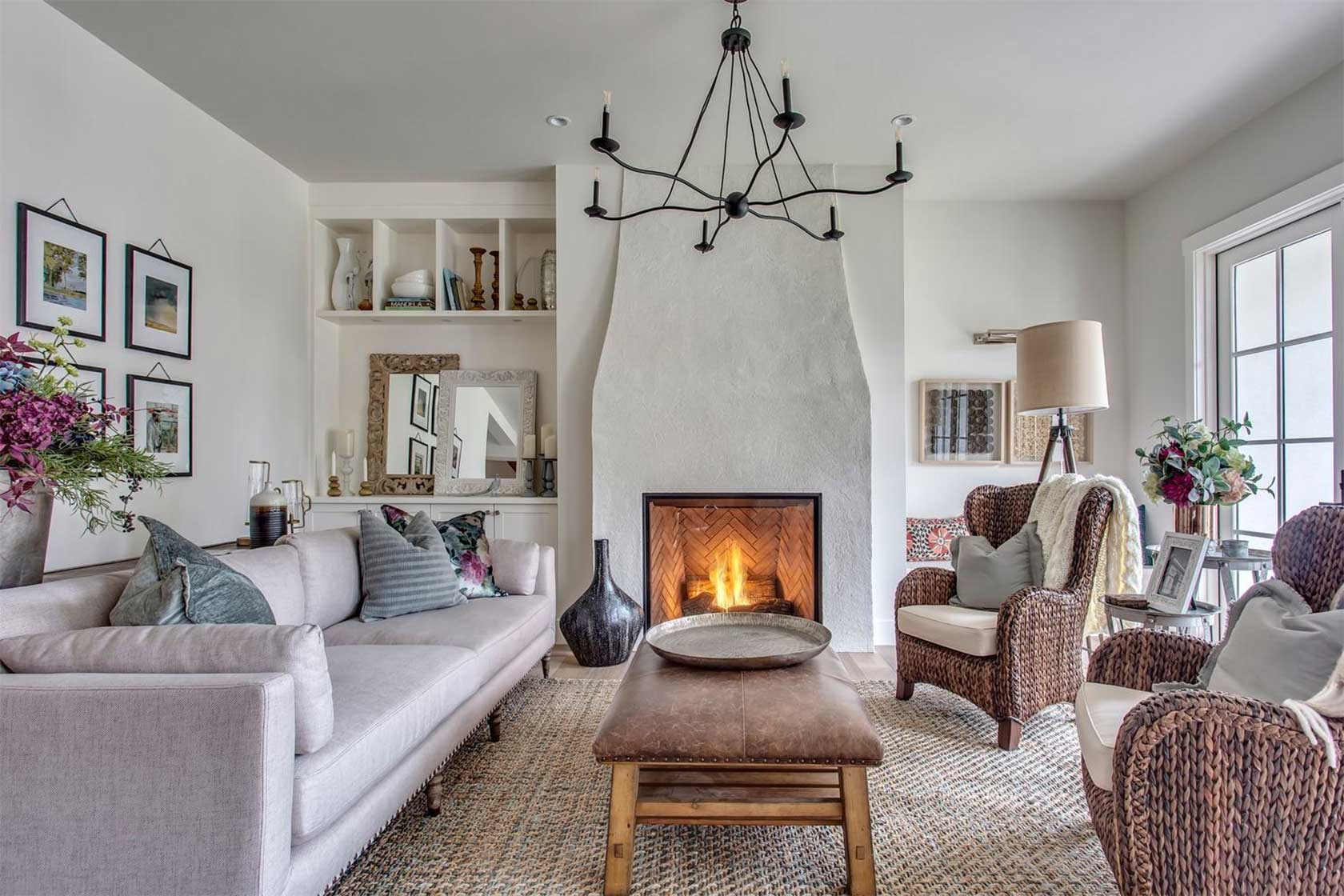 French Home Decor Using Area Rugs