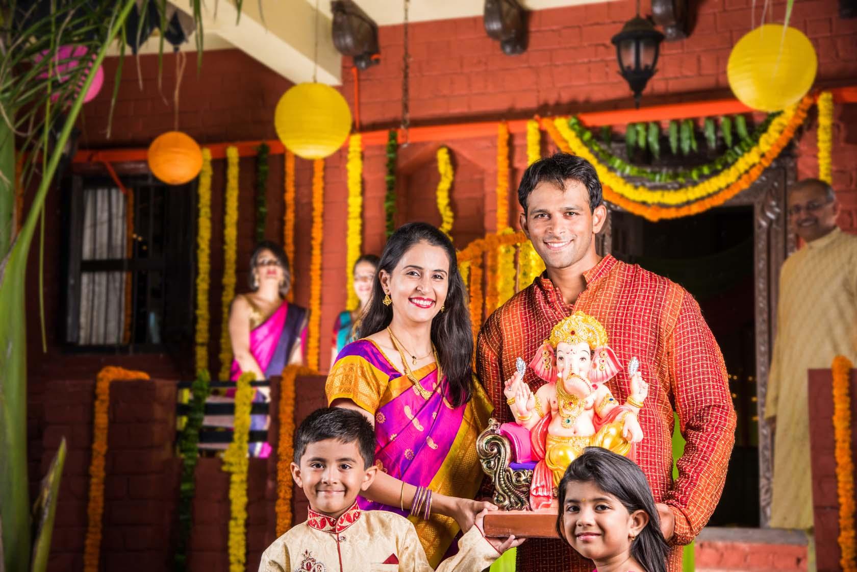 Welcoming Lord Ganesh